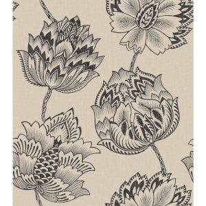 Batik Jacobean Taupe And Black Peel And Stick Wallpaper