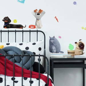Secret Life Of Pets 2 White, Gray And Black Peel and Stick wall Decal