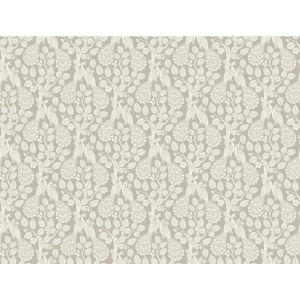 Small Prints Resource Library Taupe Two-Inch Plumage Wallpaper