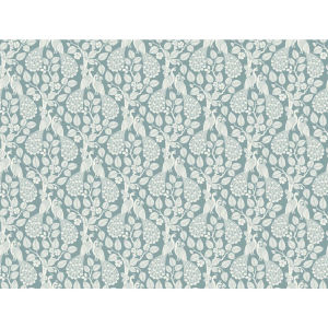 Small Prints Resource Library Teal Two-Inch Plumage Wallpaper