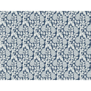 Small Prints Resource Library Navy Two-Inch Plumage Wallpaper