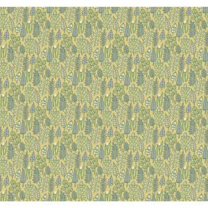 Small Prints Resource Library Yellow Two-Inch Leaf Life Wallpaper