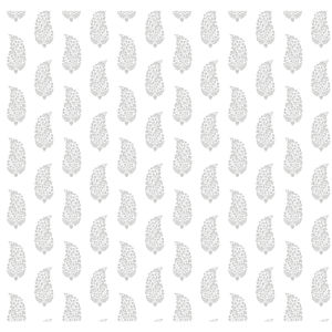 Small Prints Resource Library Gray Two-Inch Boteh Paisley Wallpaper