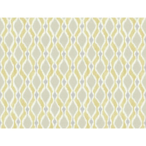 Small Prints Resource Library Yellow Two-Inch Dyed Ogee Wallpaper