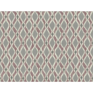 Small Prints Resource Library Purple Two-Inch Dyed Ogee Wallpaper