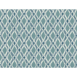 Small Prints Resource Library Blue Two-Inch Dyed Ogee Wallpaper