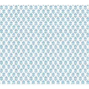 Small Prints Resource Library Blue Two-Inch Petite Fleur Wallpaper