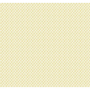 Small Prints Resource Library Yellow Two-Inch Wicker Weave Wallpaper