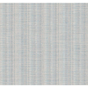 Stripes Resource Library Putty and Blue Mix Broken Boucle Stripe Wallpaper