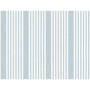 Stripes Resource Library Blue French Linen Stripe Wallpaper