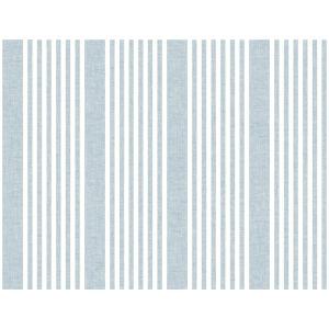 Stripes Resource Library Blue French Linen Stripe Wallpaper