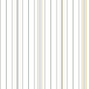 Stripes Resource Library Gray and Yellow Wide Pinstripe Wallpaper