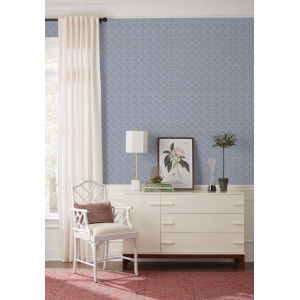 Silhouettes Navy Lacey Circle Geo Wallpaper