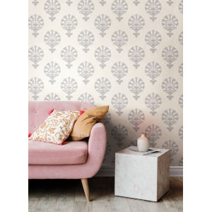Silhouettes Gray Luxor Wallpaper