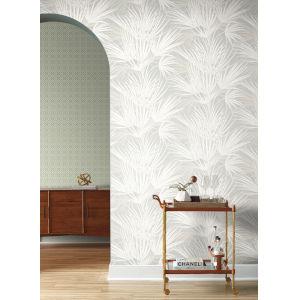 Silhouettes Gray Palmetto Wallpaper