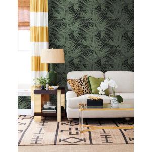 Silhouettes Black Green Palmetto Wallpaper