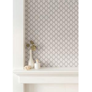 Silhouettes White Leaflet Wallpaper