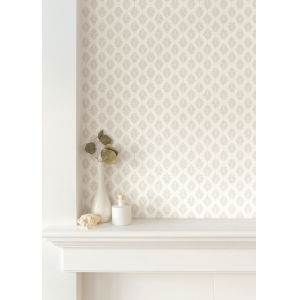 Silhouettes Taupe Leaflet Wallpaper