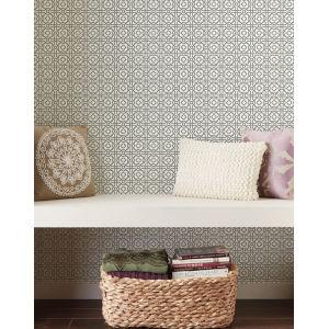 Silhouettes Slate Pergola Lattice Wallpaper
