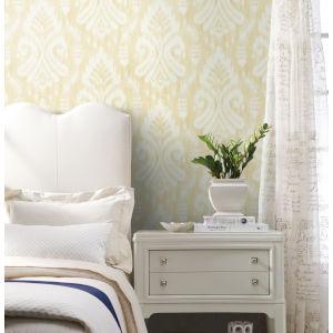 Tropics Yellow Hawthorne Ikat Pre Pasted Wallpaper