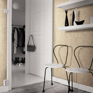 Tropics Gold Leopard King Pre Pasted Wallpaper