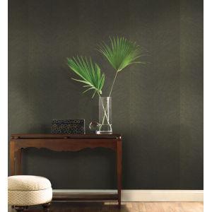 Tropics Black Gold Palm Chevron Non Pasted Wallpaper