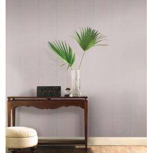 Tropics Gray Silver Palm Chevron Non Pasted Wallpaper