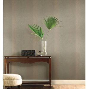 Tropics Taupe Gold Palm Chevron Non Pasted Wallpaper