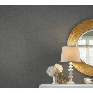 Handpainted  Dark Gray Diamond Channel Wallpaper