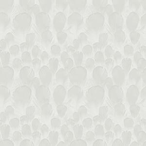 Antonina Vella Natural Opalescence Feathers White Wallpaper