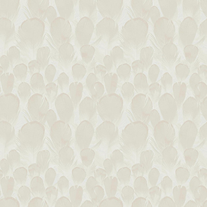 Antonina Vella Natural Opalescence Feathers Cream Wallpaper
