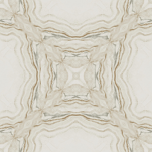 Antonina Vella Natural Opalescence Stone Kaleidoscope Cream and Charcoal Wallpaper