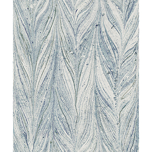 Antonina Vella Natural Opalescence Ebru Marble Bright Blue Wallpaper