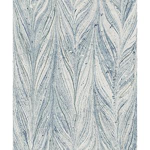 Antonina Vella Natural Opalescence Ebru Marble Bright Blue Wallpaper