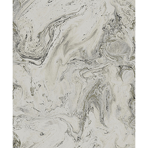 Antonina Vella Natural Opalescence Gray Oil and Marble Wallpaper