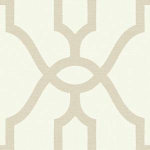 Woven Trellis Embossed Letter (Beige) Wallpaper