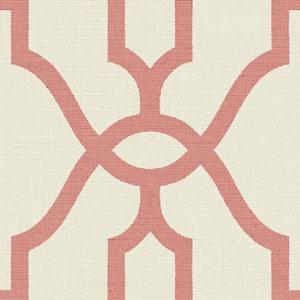 Woven Trellis Pompian Red Wallpaper