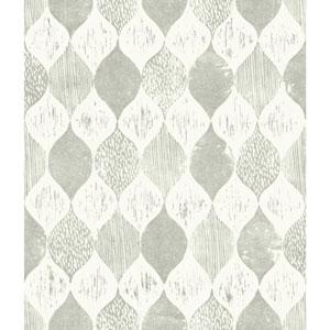 Woodblock Print Garden Trowel (Grey) Wallpaper