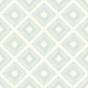 Diamond Sketch Eggshell Blue Wallpaper