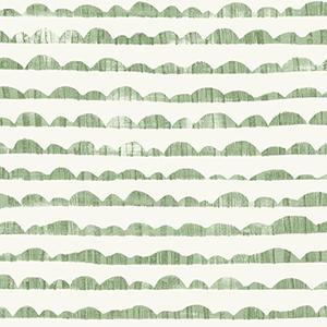 Hill and Horizon Green Wallpaper
