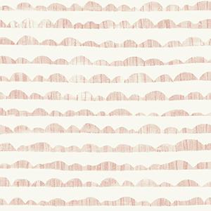 Hill and Horizon Pink Wallpaper