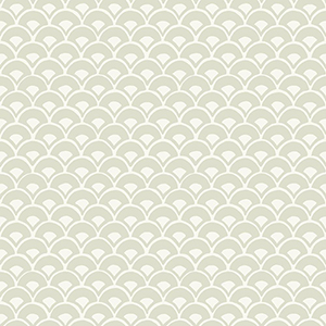 Stacked Scallops Beige Wallpaper