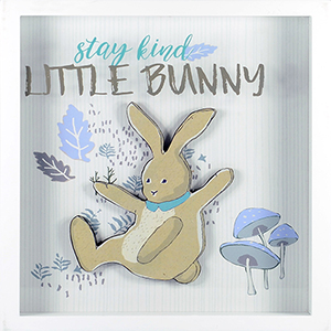 Stay Kind Little Bunny Shadowbox