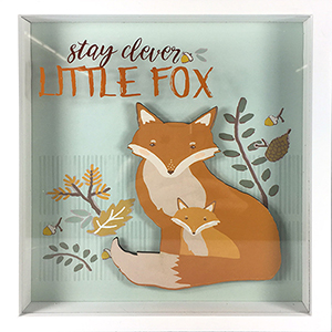 Stay Clever Little Fox Shadowbox