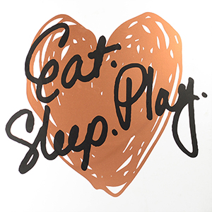Eat Play Sleep , Rose Gold Boxed Plaque