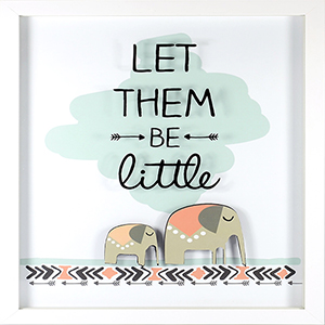 Let Them Be Little Shadowbox with Raised Shape