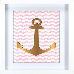 Gold Anchor Framed Artwork