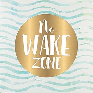 No Wake Zone Wrapped Canvas