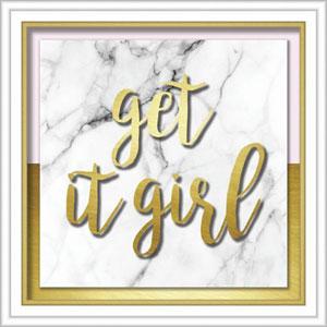 Get It Girl 20 In. Shadowbox Wall Art