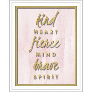 Kind Heart Fierce Mind Brave Spirit 16 x 20 In. Shadowbox Wall Art